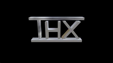 Thx Logo Download  Ee  Free Ee   D Model By Cmanflip Cmanflip Sketchfab
