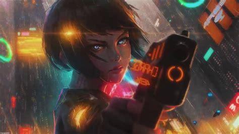 wallpaper engine cyberpunk anime girl animated wallpaper