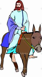 Jesus Riding On A Donkey Clipart Clipground