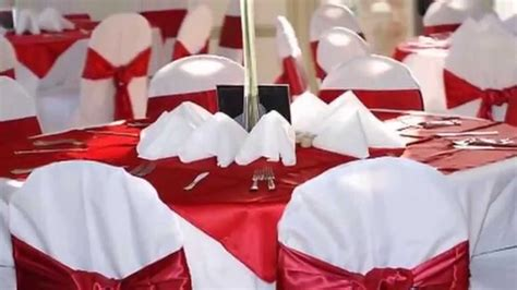 decoration de la salle du mariage rouge youtube