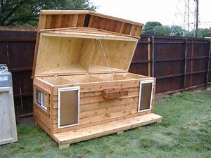 Insulated dog house plans for large dogs free lovely dog for Insulated heated dog house