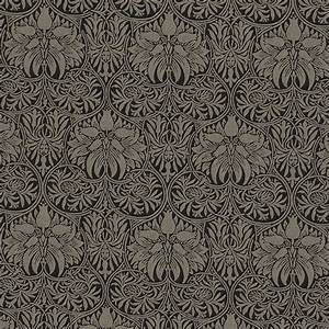 Crown Imperial Fabric - Black/Linen (230292) - William