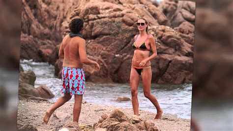 Bikini Clad Heidi Klum Shows Off Pda On Secluded Italian