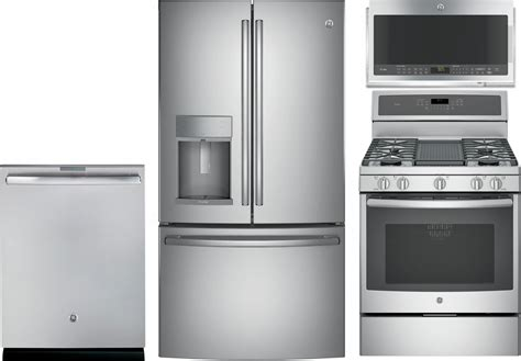Ge Profile 4piece Kitchen Package With Pgb911zejss Gas