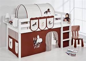 Vorhang über Bett : spielbett hochbett kinderbett kinder bett jelle vorhang nach wahl ebay ~ Markanthonyermac.com Haus und Dekorationen