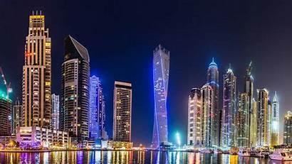 Dubai 4k Skyline Night Uhd Backgrounds Wallpapers