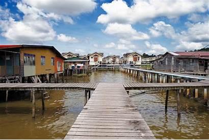 Brunei Water Ayer Famed Village Rural Villages