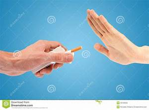 Hand Reject A Cigarette Offer Royalty Free Stock Photo ...