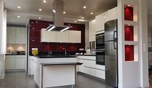 cuisine moderne avec ilot modele sensations With images des cuisines modernes