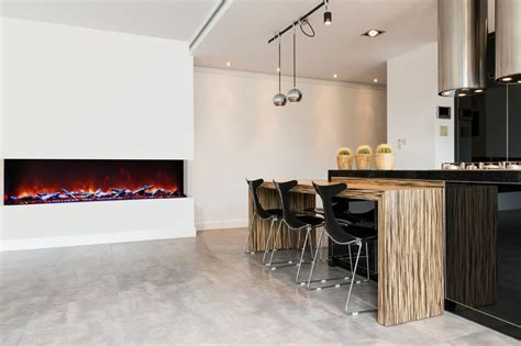 72 TRU VIEW XL ? 3 Sided Electric Fireplace   Amantii