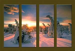 Modern Oil Paintings on canvas sunrise painting -set10101 ...