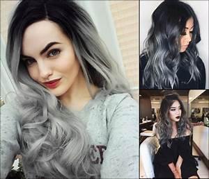 Lupe Ombre Grau Haar Farben Neue Frisur Stil