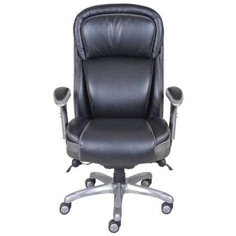 serta managers chair black serta ergonomic high back leather manager office chair in