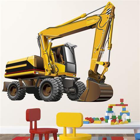 Wandtattoo Kinderzimmer Bagger by Wallprint Wandtattoo Bagger R 228 Der 130x115cm Aufkleber