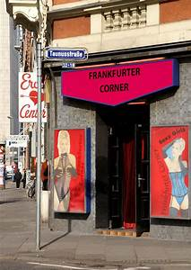 Light Up Theater Sign Frankfurt Taunusstrasse Rotlichtviertel Red Light Distr