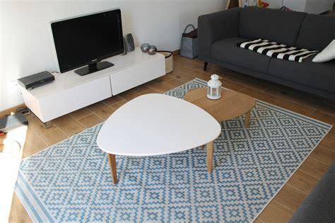 salon scandinave photo 2 6 tables alin 233 a tapis la redoute