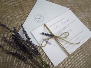 Lavender love rustic wedding stationery suite sj for Lavender themed wedding invitations