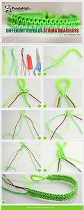 Different types of string bracelets. These instructions ...
