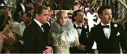 Gatsby Dicaprio Leonardo English Mulligan Gifs Parties