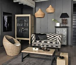 deco salon gris 88 super idees pleines de charme With deco cuisine pour salon en rotin