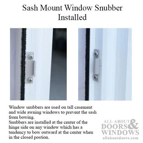 window snubber concealed frame sash mount sash anti bow