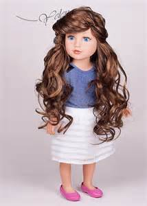 "Made to order OOAK Meredith Journey Girls 18"" doll Custom with lond light brown, dark brown or purple hair, outfit, origian box"