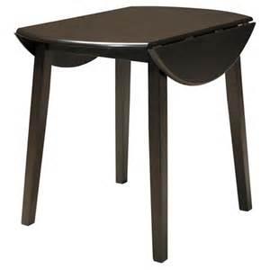 hammis round dining room drop leaf table wood dark brown
