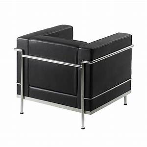 Le Corbusier Stil : le corbusier style armchair black faced leather and chrome ~ Michelbontemps.com Haus und Dekorationen