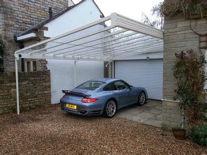 Cantilever Car by Carport Canopy Fitted With Glass Roof And Cantilever
