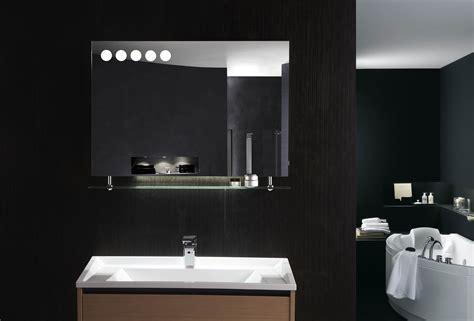 Florence Led Backlit Modern Vanity Mirror With Glass Shelf