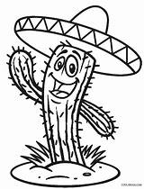 Cinco Mayo Coloring Cactus Hat Sheets Cool2bkids Wearing sketch template