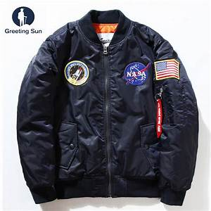 Flight Pilot Jacket Coat winter jacket men Ma1 Men Bomber ...