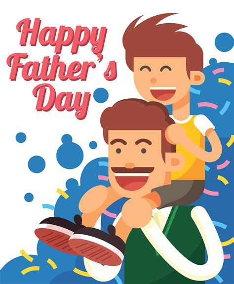 Father's day is a celebration that honours the role of fathers and forefathers. Happy Fathers Day Illustration - Download Free Vectors ...