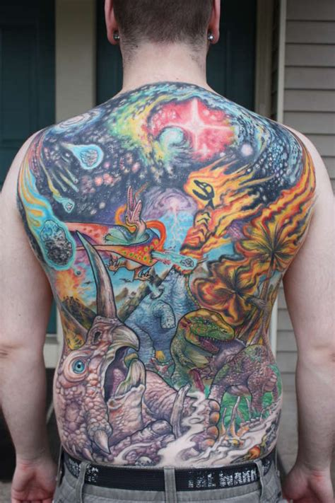 Tribal Tattoo Cover Up Back