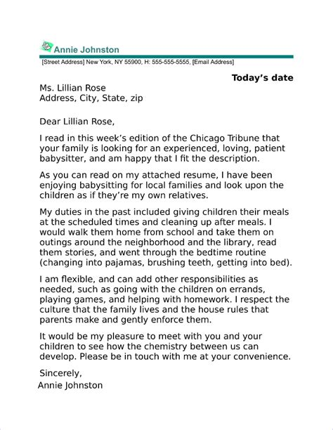 Cover Letter For Babysitting by Property Manager Cover Letter Sle