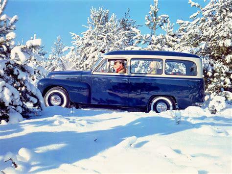 Volvo Drift Wallpaper by 1958 Volvo Pv445 Ph Duett Stationwagon Retro Winter V