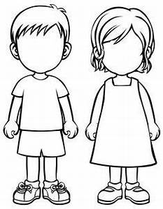 Image result for simple human body outline sunday school for Person template preschool