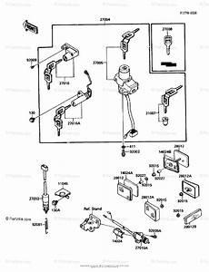 Kawasaki Motorcycle 1988 Oem Parts Diagram For Ignition