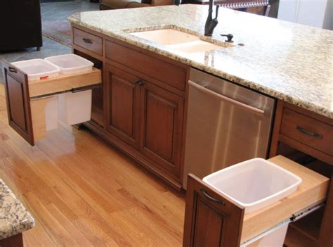 kitchen island with sink and seating modern kitchen trash can ideas for waste management 9451