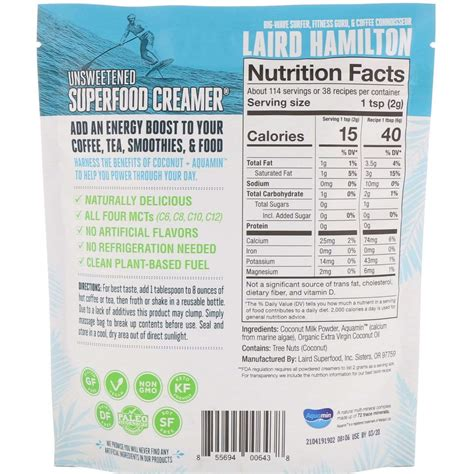 Laird swears by the additional oils in this recipe to stay energized and full. Laird Hamilton - Superfood Creamer - 227g
