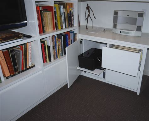 Living Room Renovation, Study Desk and Shelving   Country