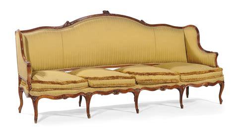 divano luigi xv in noce genova xviii secolo - Divano Luigi Xv