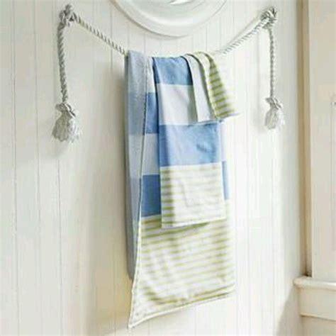 rope arrange  towels   bathroom  latest