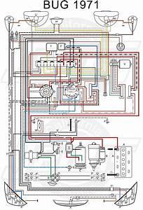 Vw Tech Article 1971 Wiring Diagram In 2020