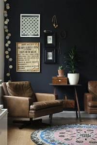 Wand Schwarz Streichen : w nde streichen ideen in dunklen schattierungen wand schwarz pinterest w nde streichen ~ Fotosdekora.club Haus und Dekorationen
