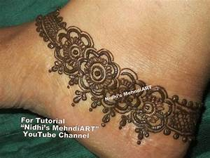 Pretty Anklet Pattern Inspired Mehndi Henna Designs for ...
