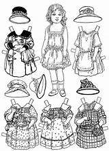 Paper Coloring Doll Pages Printable sketch template