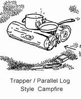 Scout Campfire Trapper Sheets Activity Campcraft Boy Campfires Camping Starting Pages Printable Coloring Bushcraft Printables Print sketch template