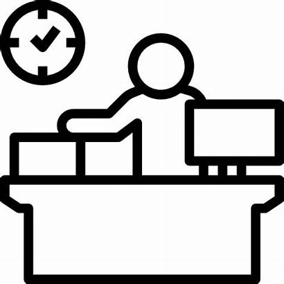 Reception Icon Desk Clerk Counter Icons Hotel
