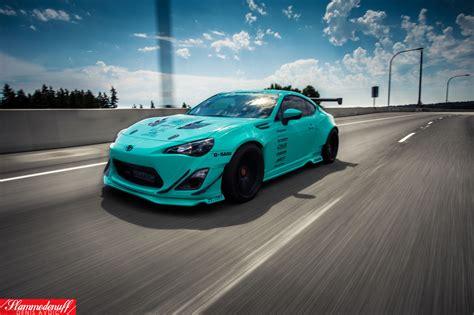 sema built tiffany blue rocket bunny fr  rare cars